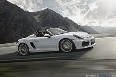 The new Porsche Boxster Spyder