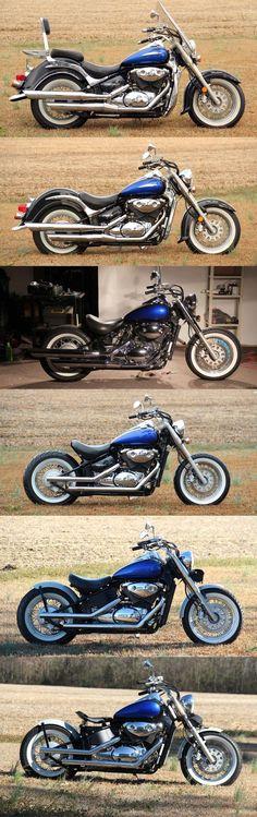 Bobber Bikes, Bobber Motorcycle, Moto Bike, Cool Motorcycles, Custom Motorcycle Paint Jobs, Motorcycle Types, Custom Bikes, Suzuki Volusia, Honda Phantom