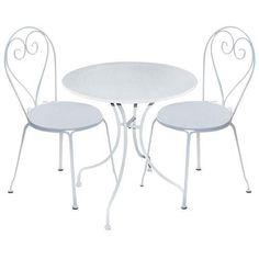 Tavolo-da-giardino-in-ferro-bianco-completo-di-due-sedie-arredo-esterno-offerta