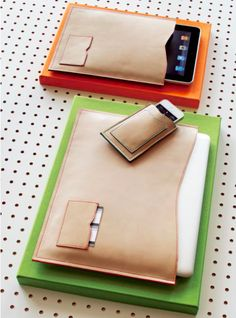 Cool Stuff We Like Here @ CoolPile.com ------- << Original Comment >> ------- contrast stitch leather gadget cases