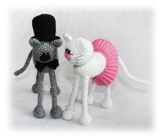 Casper and Katy Cats Crochet Pattern Cat Crochet Pattern Cat Crochet, Crochet Toys, Cat Couple, Grey Cats, Finger Puppets, Line Patterns, Toddler Toys, Crochet Patterns, Etsy