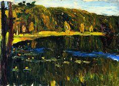 The Athenaeum - Achtyrka - Dunkler Lake (Wassily Kandinsky - 1901)