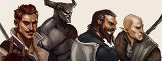 Дориан павус,DA персонажи,Dragon Age,фэндомы,Железный бык,Блэкволл,Солас,Dragon Age Inquisition