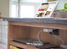5 smart upgrades for your kitchen 1) A home for all your electronics - Install a charging station into your kitchen island or tuck them inside a cabinet drawer.