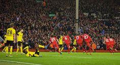 That moment v Borussia Dortmund at Anfield. #LFC