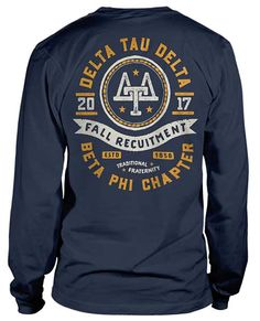Delta Tau Delta Rush T-shirt Delta Tau Delta, Theta Xi, Sigma Chi, Choir Shirts, Club Shirts, Fraternity Rush Shirts, School Spirit Wear, Greek Shirts, Custom Shirts