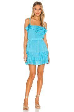 KARINA GRIMALDI Paloma Metallic Dress - We Select Dresses Vacation Dresses, Summer Dresses, Metallic Mini Dresses, New Dress, Designer Dresses, Women Wear, Product Launch, Turquoise, Revolve Clothing