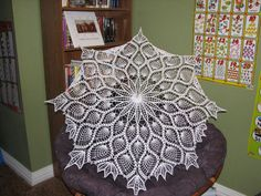 crocheted umbrella by jessica myers..I just also finished this same umbrella last week :o)