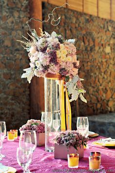 My talented flower friend, Liz, did this amazing centerpiece....love it!!!  Fleur:ology | Wedding + Event Floral Design | Portland, Oregon Wedding Floral Design: Maysara Winery | Oregon Wedding Inspiration Photoshoot