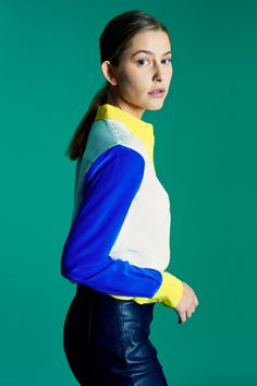 CHARLEY in Off-White, Cobalt & Canary