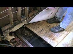 Restoring The Shasta Part 3c - Installing the Sub-Floor and Sheathing - YouTube