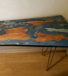 Excited to share the latest addition to my #etsy shop: Console Hall Table. Epoxy Resin Pour. http://etsy.me/2Cye6S5