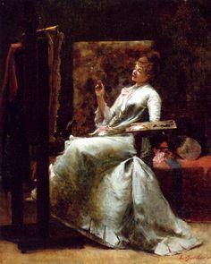 Dans l'atelier. Ernest Bordes (French, 1852-1914). Oil on canvas.