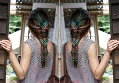 Not so sure if I am to crazy about the blue, but fish tail braids are my favorite ;)