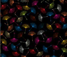 Dandelions fabric by lirch on Spoonflower - custom fabric