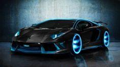 Lamborghini Tron Aventador Super Car Racing Car Concept.