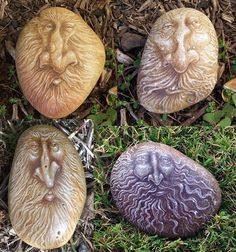 Wizards painted rocks