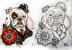 great tatto idea #dogs #englishbulldog #tattoo