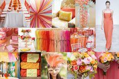 Inspiration board: coral, amarelo e rosa