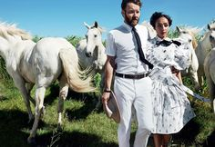 #RuthNegga and @joeledgerton star in Loving, a film depicting the real-life love story of an interracial couple in 1950s Virginia. Read more in the link in our bio. Photographed by @mariotestino, styled by Camilla Nickerson.