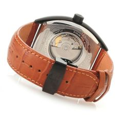 Invicta Reserve Tonneau Swiss Made Automatic Leather Strap Watch caseback