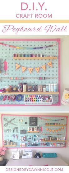 Great idea for a craft room ~ and the colors are so cheery.