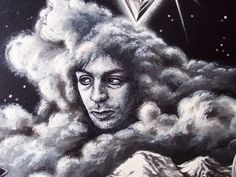 Syd Barrett detail from Pink Floyd's 'Dark Side of the Wall' SongScape Poster