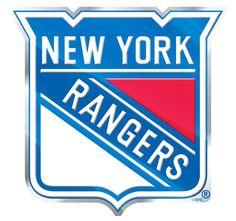 New York Rangers Color Auto Emblem - Die Cut