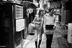 Sylvie Vartan in Tokyo, Japan in May, 1971 - Serge Gainsbourg and Jane Birkin.