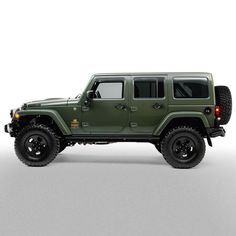 Filson AEV Jeep Wrangler. The green return to the Army.
