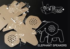 Elephant speakers // the eco DIY collection by eduardo alessi