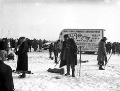 Ice fishing contest, St. Paul Winter Carnival, 1948