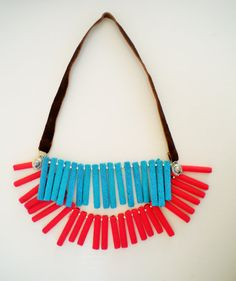 colorful geometric necklace necklace boho tribal by JIAKUMA