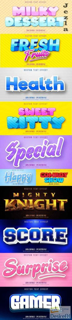 Editable font effect text collection illustration design 201 Mighty Knight, Edit Font, Text Effects, Vector Stock, Cartoon Styles, Adobe Illustrator, Illustration, Fonts, Graphics