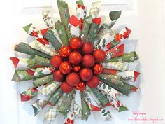 Paper cone ornament and wreath....I love the use of berries in the middle!
