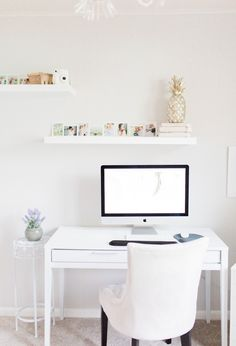 Office Makeover After Pictures   Beautiful Home Office Inspiration   DIY Project   Office Reveal   Renovation Series   Emma Rose Company   Craftsman Style Home Renovation   Office Details   Entrepreneur Dream Space   Office Space Details   Ikea Lack Shelv