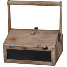Wooden Box With Chalkboard 1