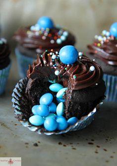 Heather's Triple Chocolate Surprise Cupcakes