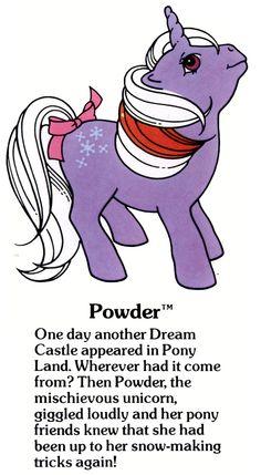 my little pony cartoon My Little Pony Powder fact file . Original My Little Pony, My Little Pony Unicorn, Vintage My Little Pony, My Lil Pony, Childhood Toys, Childhood Memories, Mini Pony, Little Poney, Pony Drawing