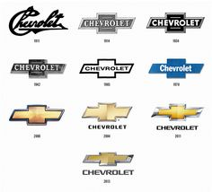 changes Chevrolet division of GM logo changes over the years 1911 thru to 2013