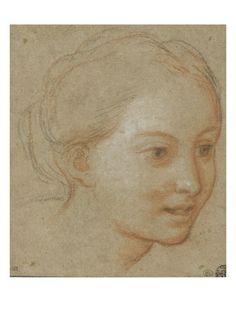 A TROIS QUART portret A Trois Quart     getekend