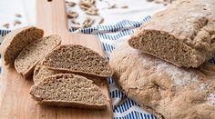 Ψωμί με αλεύρι ντίνκελ | alevri.com Fodmap, Vegan Recipes, Bread, Food, Vegane Rezepte, Breads, Baking, Meals, Yemek