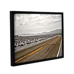 """ArtWall Slow Curves by Mark Ross Framed Photographic Print Size: 14"""" H x 18"""" W"""