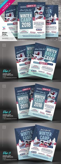 Winter Camp Flyer Templates. Flyer Templates. $8.00