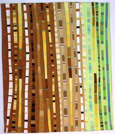 Gallery Lines - Valerie Maser-Flanagan Fiber Artist Map Quilt, Quilt Art, Monochromatic Quilt, Strip Quilts, Scrappy Quilts, Quilt Modernen, Contemporary Quilts, Textile Artists, Fabric Art
