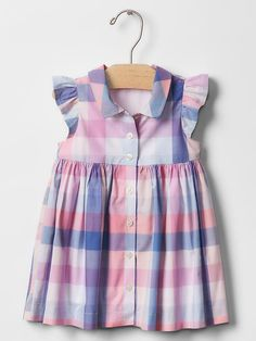 Plaid flutter shirt dress | Gap