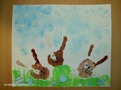 ecoles enfantines - Lapins de Pâques
