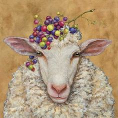 decorative napkins by vickie sawyer vineyard sheep — MUSEUM OUTLETS Decorative Napkins, Sheep Art, Illustration Art, Illustrations, Paper Napkins For Decoupage, Sheep And Lamb, Whimsical Art, Art Plastique, Animal Paintings