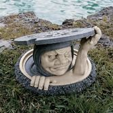 The Dweller Below Garden Statue - wonder if it will scare away unwanted visitors if I place this on my front yard. LOL