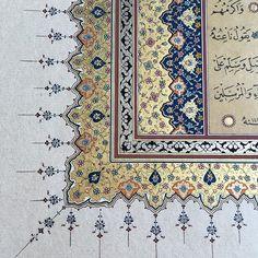 Tezhib detay.. #art #tezhib #tezhipsanatı #müzehhibe #hat #hatsanatı #desing #gelenekselsanatlar #istanbul